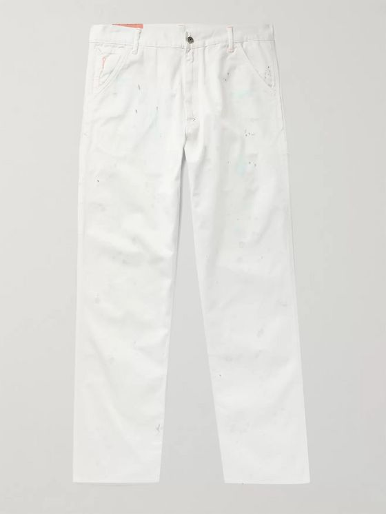 Acne Studios Paint-Splattered Cotton-Twill Trousers