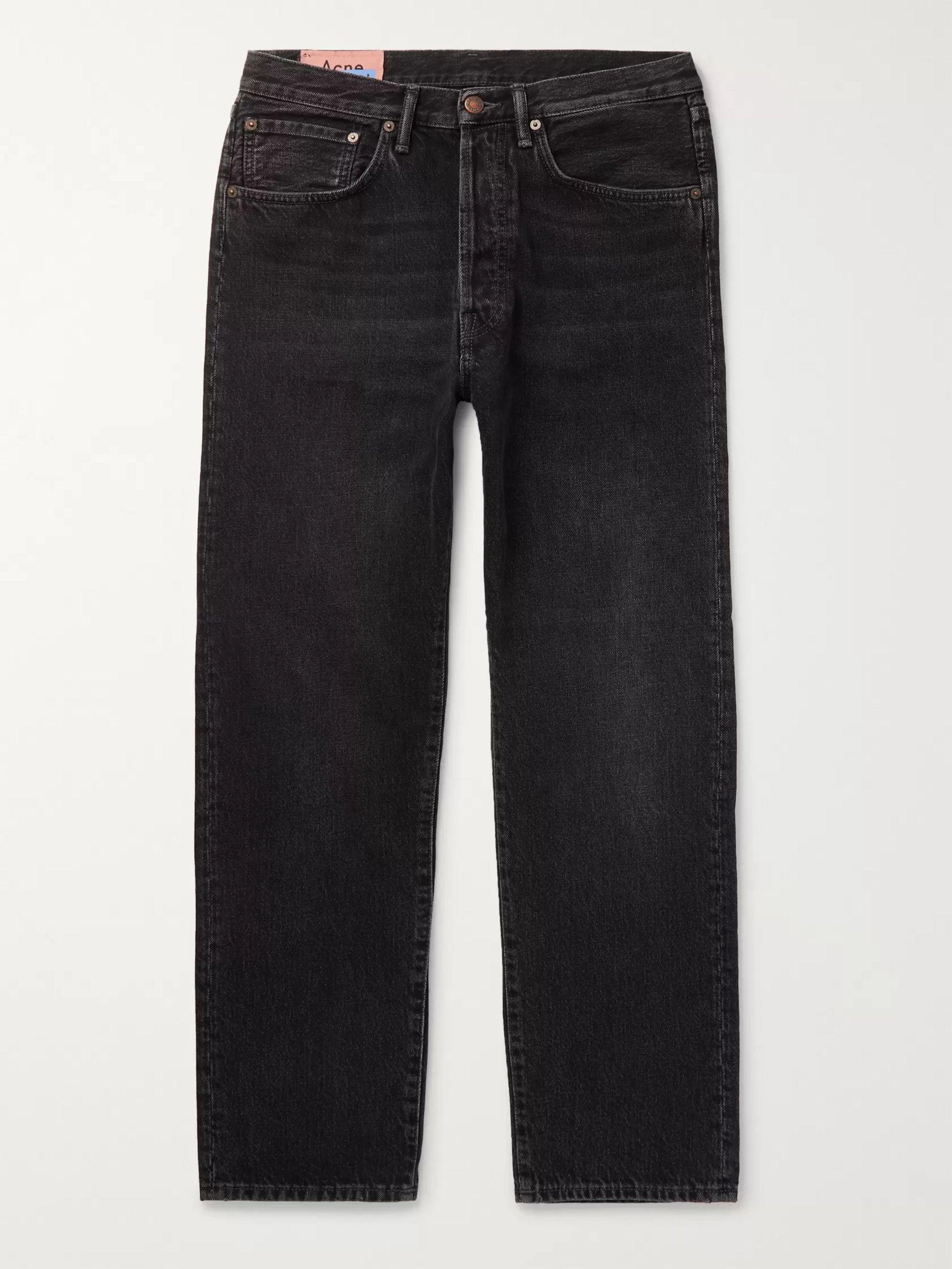 아크네 스튜디오 Acne Studios Black Denim Jeans,Black