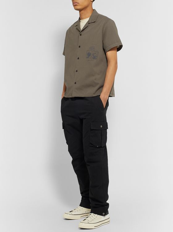 Reese Cooper® Camp-Collar Printed Brushed Cotton-Twill Shirt