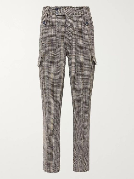 Reese Cooper® Checked Tweed Cargo Trousers