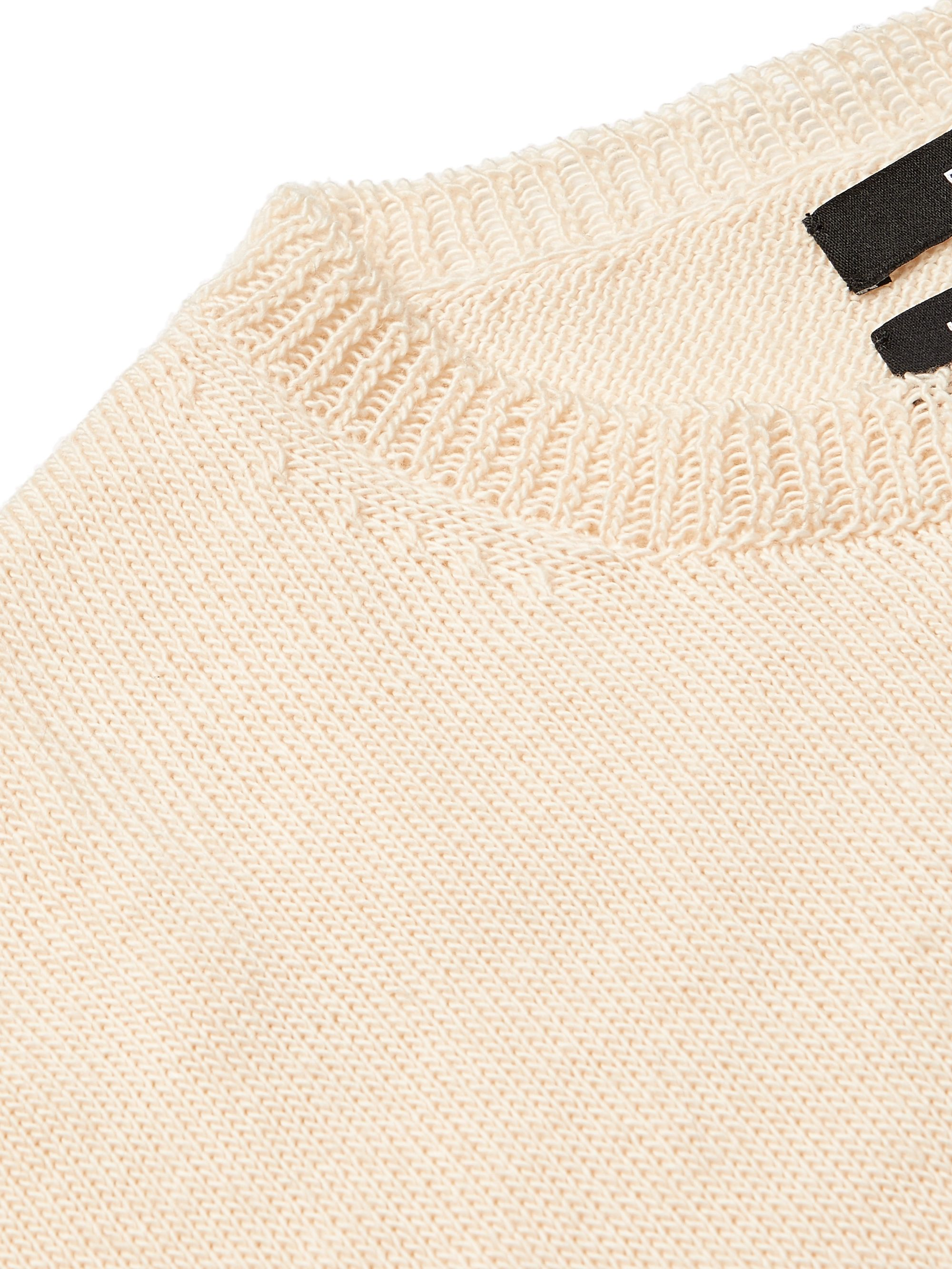 Reese Cooper® Intarsia Wool-Blend Sweater