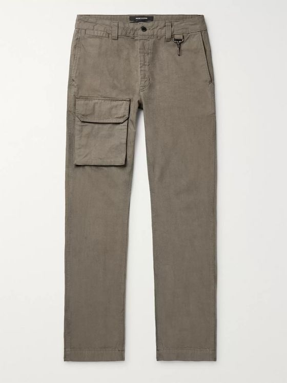 Reese Cooper® Slim-Fit Cotton and Linen-Blend Canvas Cargo Trousers