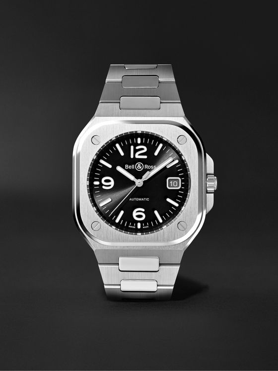 BELL & ROSS BR 05 Black Steel Automatic 40mm Stainless Steel Watch, Ref. No. BR05A-BL-ST/SST