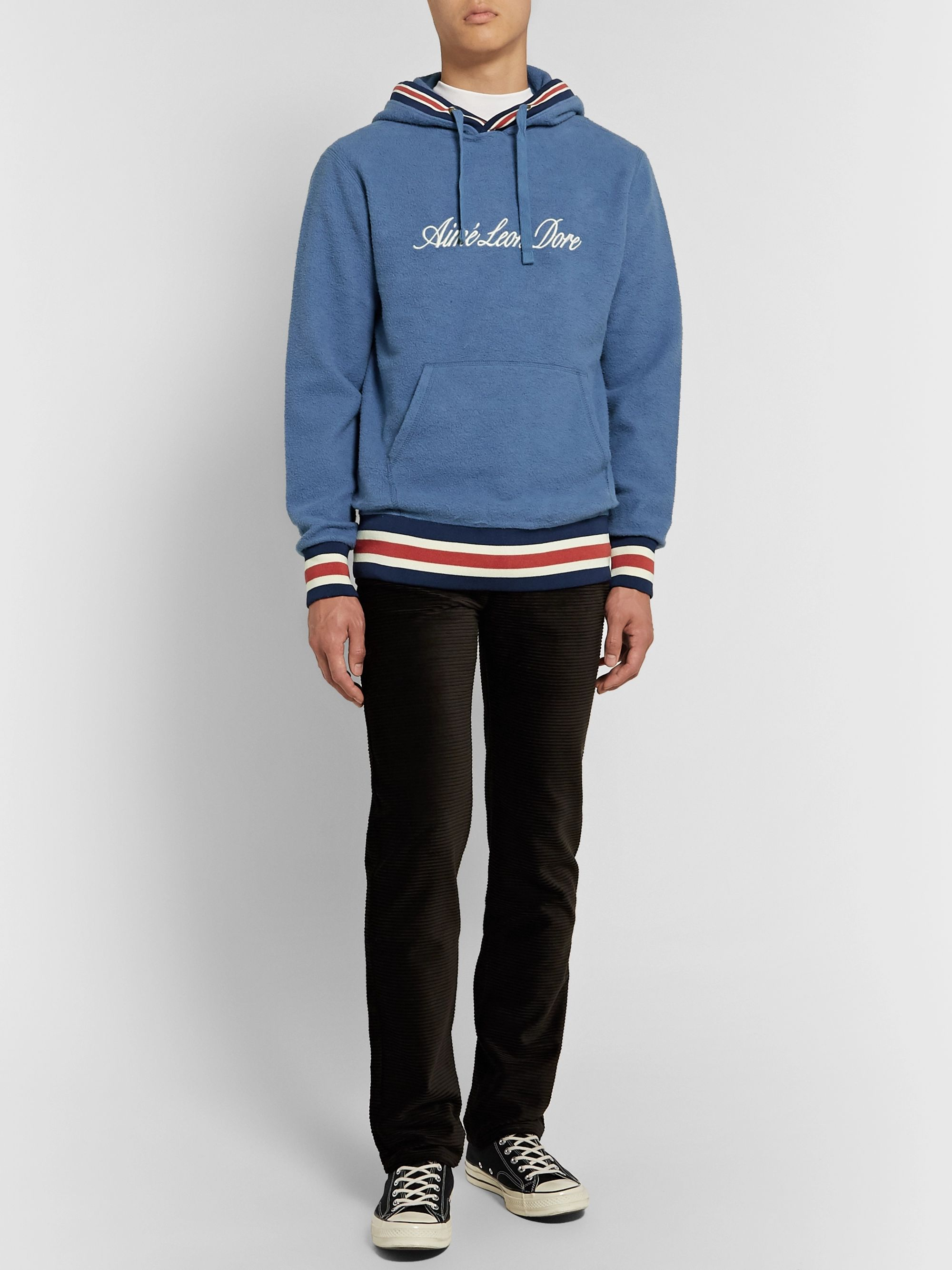 Aimé Leon Dore Logo-Embroidered Cotton-Fleece Hoodie