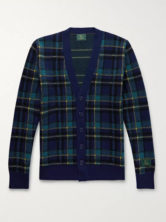 Aimé Leon Dore + Woolrich Checked Wool Cardigan