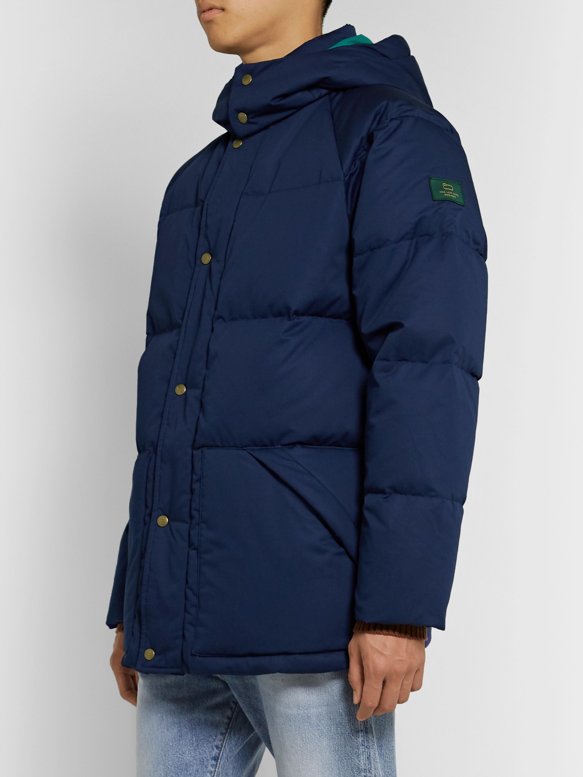 Aimé Leon Dore + Woolrich Quilted Cotton-Shell Hooded Down Jacket