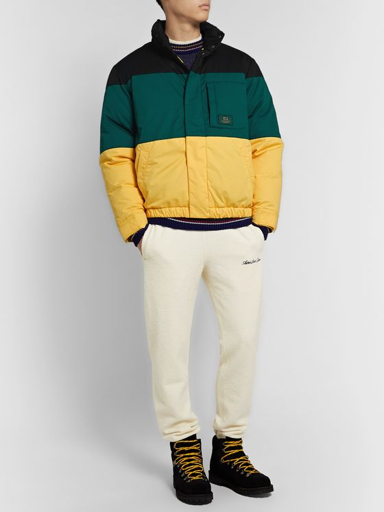Aimé Leon Dore + Woolrich Colour-Block Cotton-Twill Down Jacket