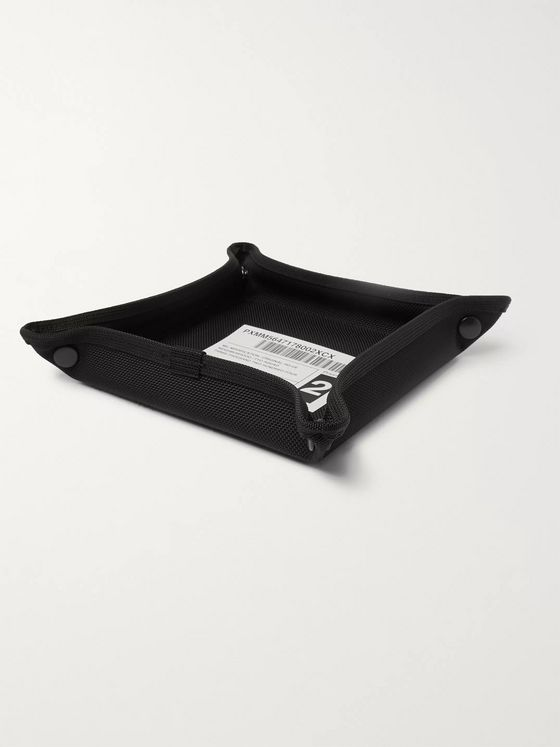 Neighborhood Appliquéd Canvas Desk Tray