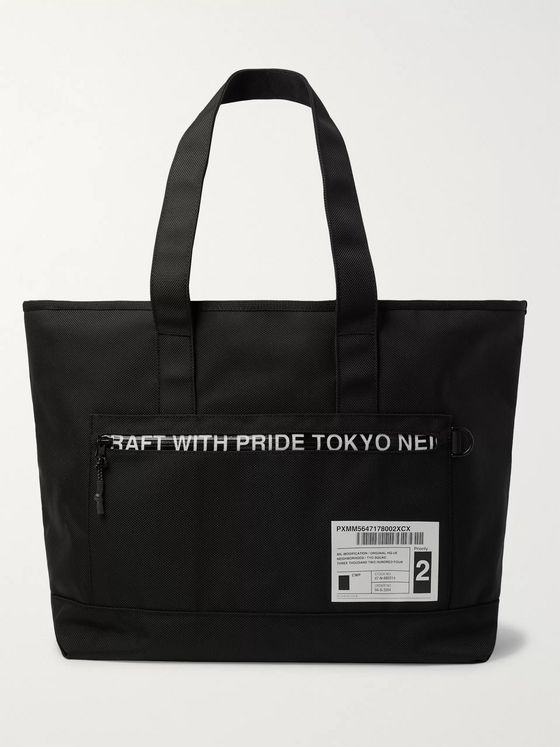 Neighborhood Appliquéd Nylon Tote Bag