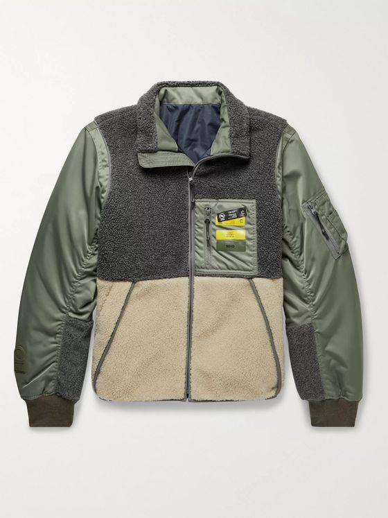 Neighborhood Colour-Block Shell and Fleece Jacket