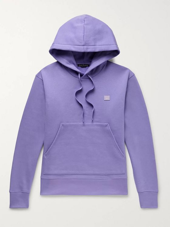 Acne Studios Logo-Appliquéd Fleece-Back Cotton-Jersey Hoodie
