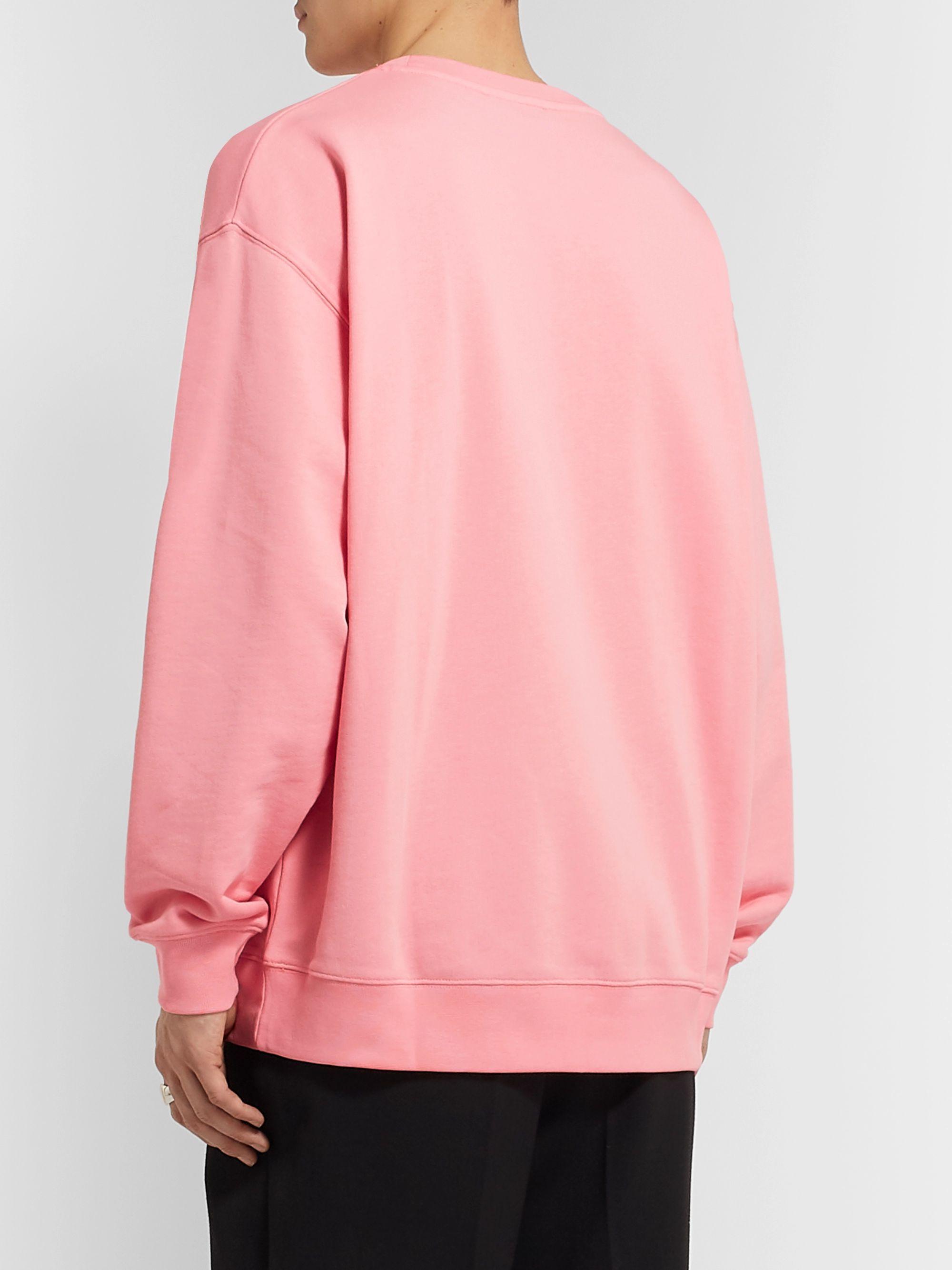 Oversized Logo Appliquéd Mélange Loopback Cotton Jersey Sweatshirt