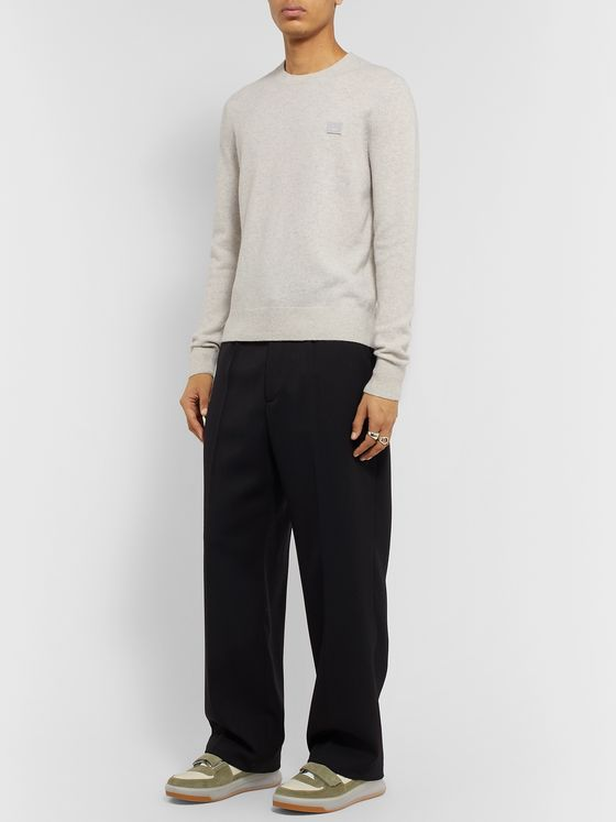 Acne Studios Logo-Appliquéd Wool Sweater