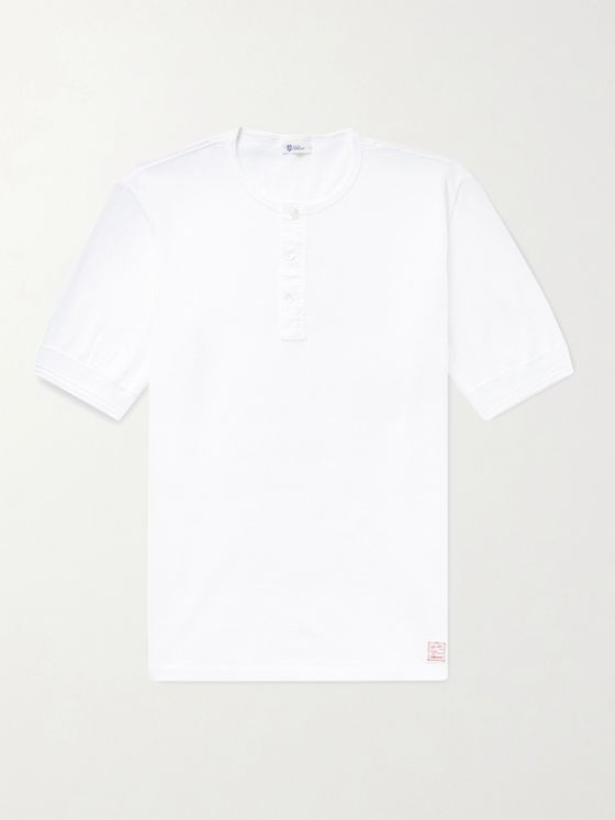 Schiesser Jacques Cotton-Piqué Henley T-Shirt