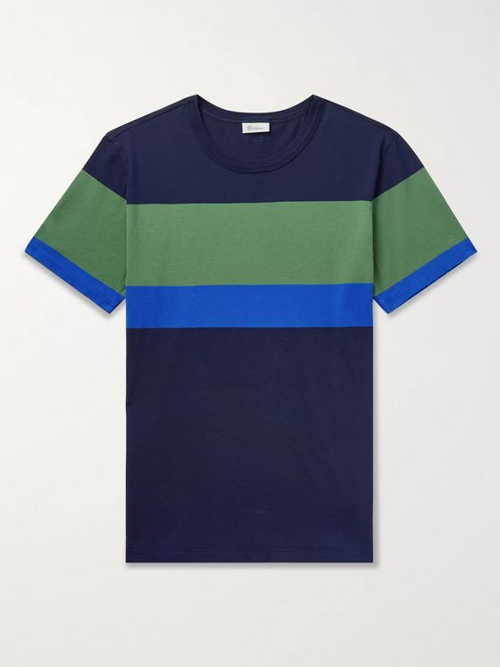 Schiesser Georg Colour-Block Cotton-Jersey T-Shirt