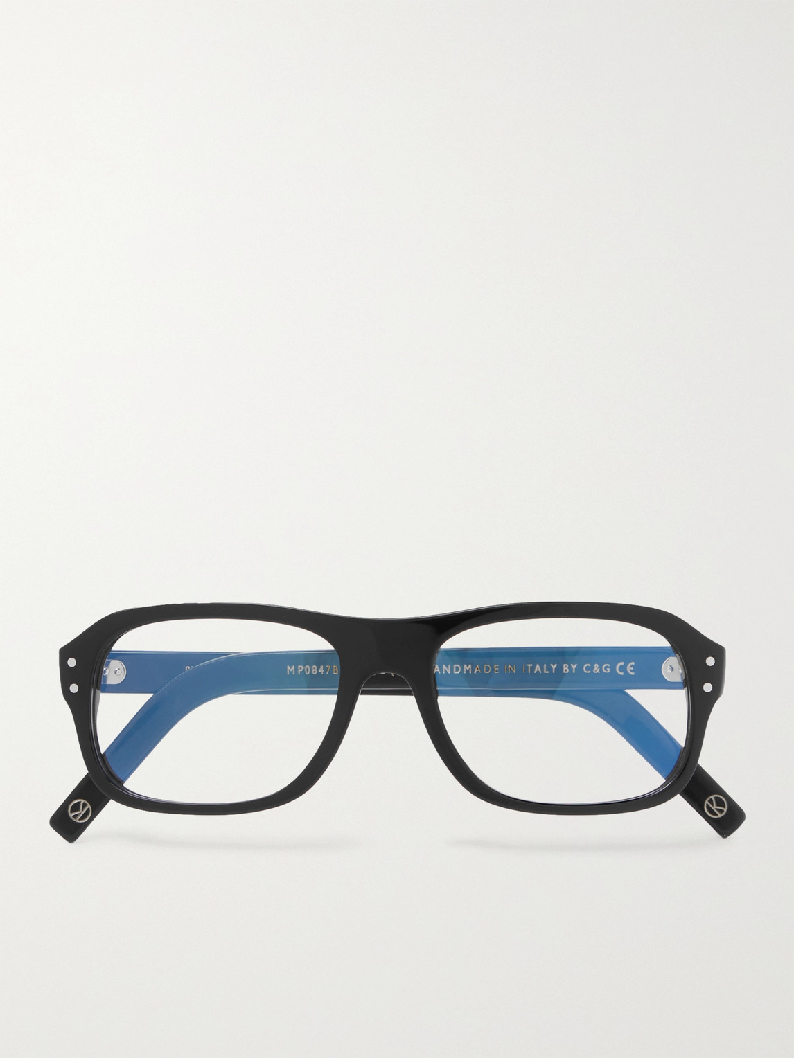 Kingsman Cutler And Gross Eggsy's Square-frame Acetate Optical Glasses In Black