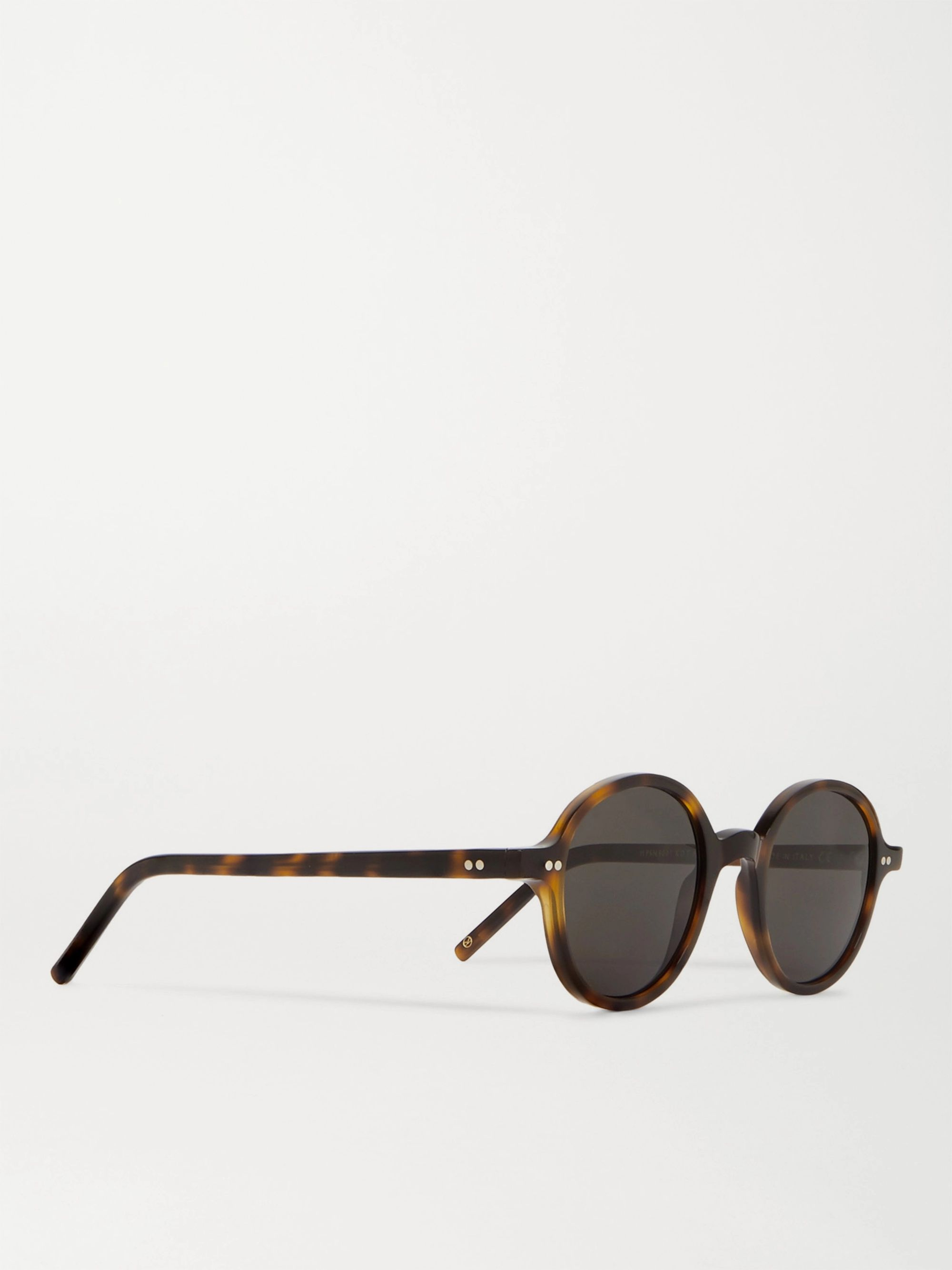 Kingsman + Cutler and Gross Round-Frame Tortoiseshell Acetate Sunglasses