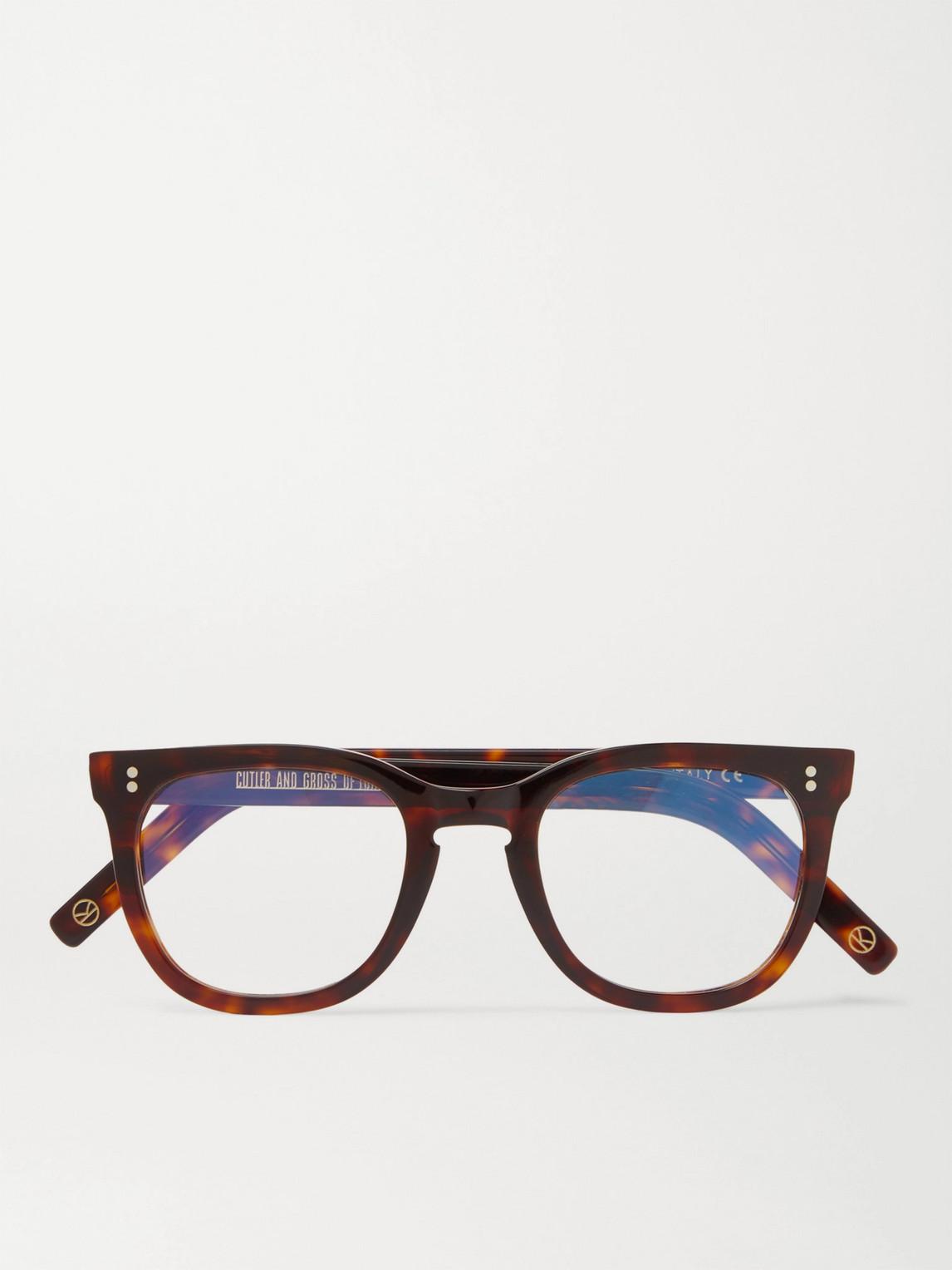 Kingsman Cutler And Gross Square-frame Tortoiseshell Acetate Optical Glasses