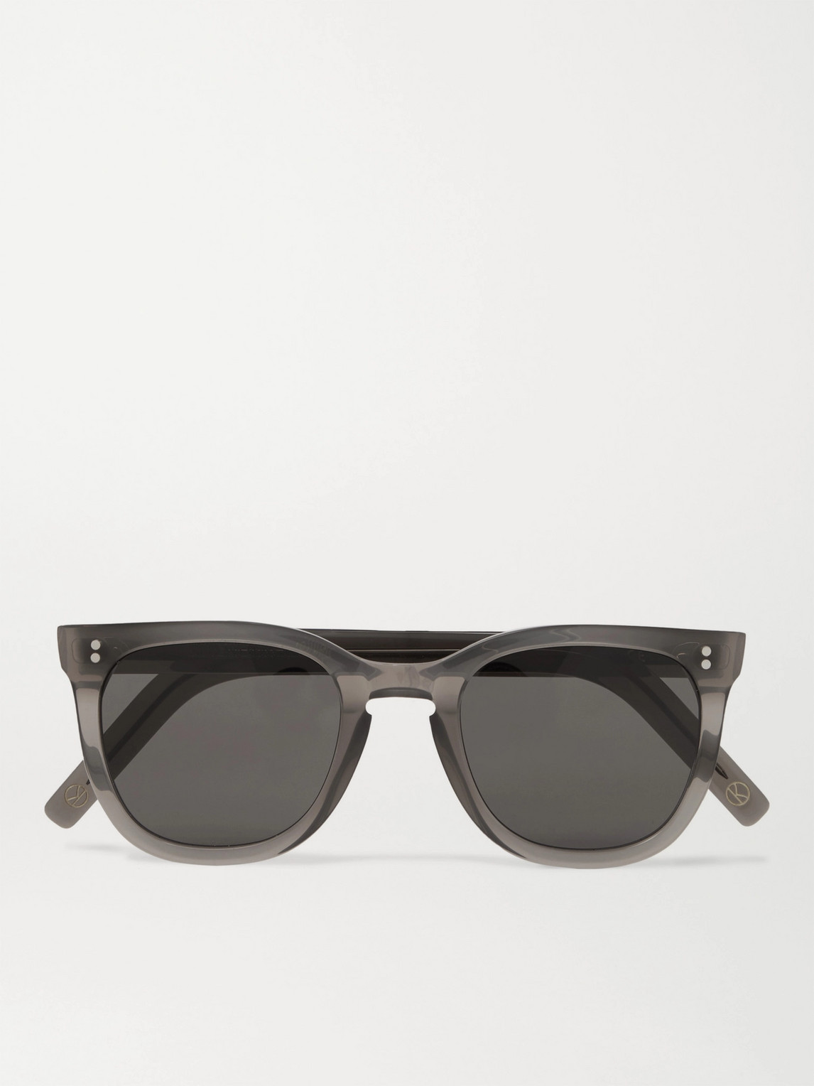 Kingsman Cutler And Gross D-frame Acetate Sunglasses In Gray