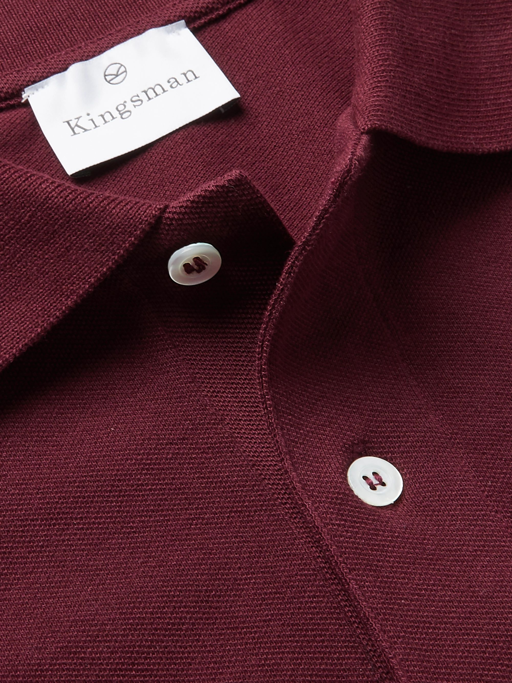 Kingsman Cotton-Piqué Polo Shirt