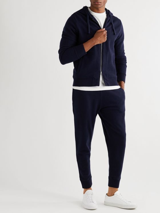 Kingsman Slim-Fit Tapered Brushed-Cashmere Sweatpants
