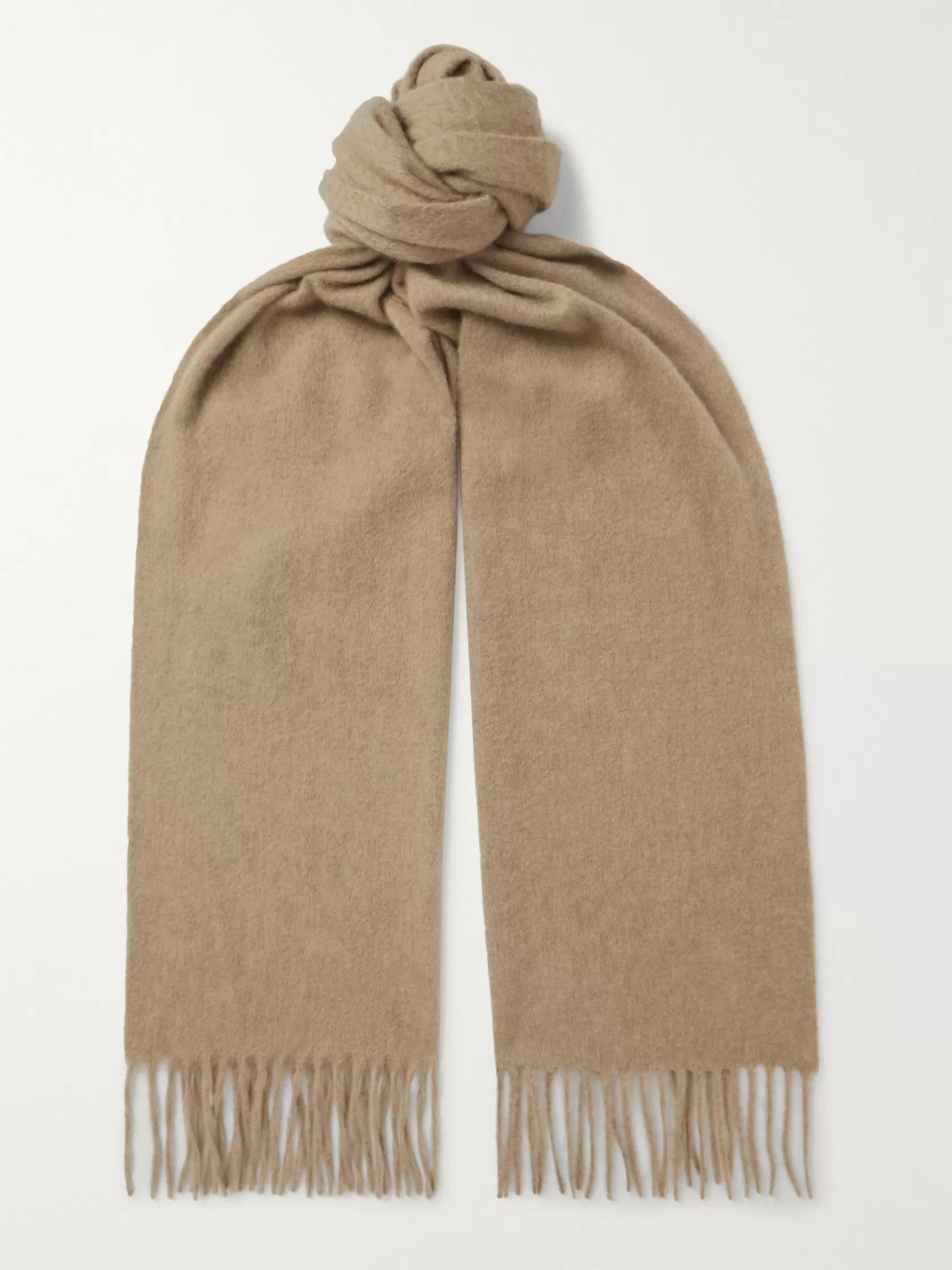 Begg & Co Arran Fringed Checked Cashmere Scarf