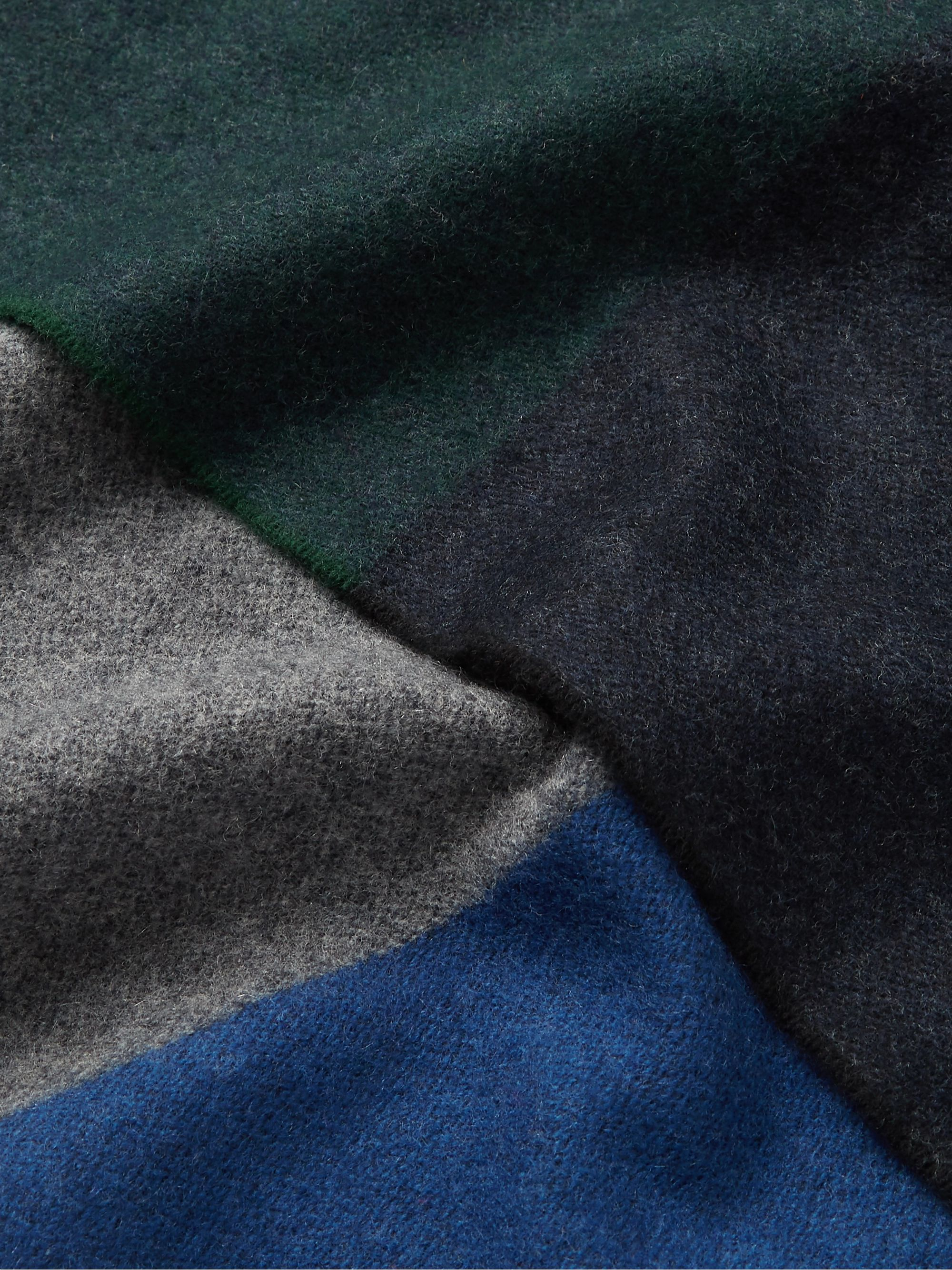 Begg & Co Vigo Striped Wool and Cashmere-Blend Scarf