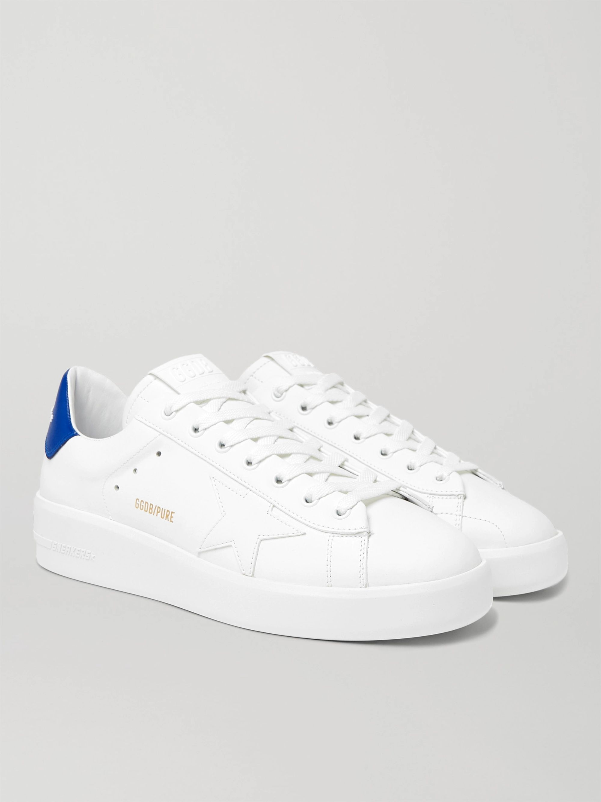 골든구스 Golden Goose Purestar Leather Sneakers,White