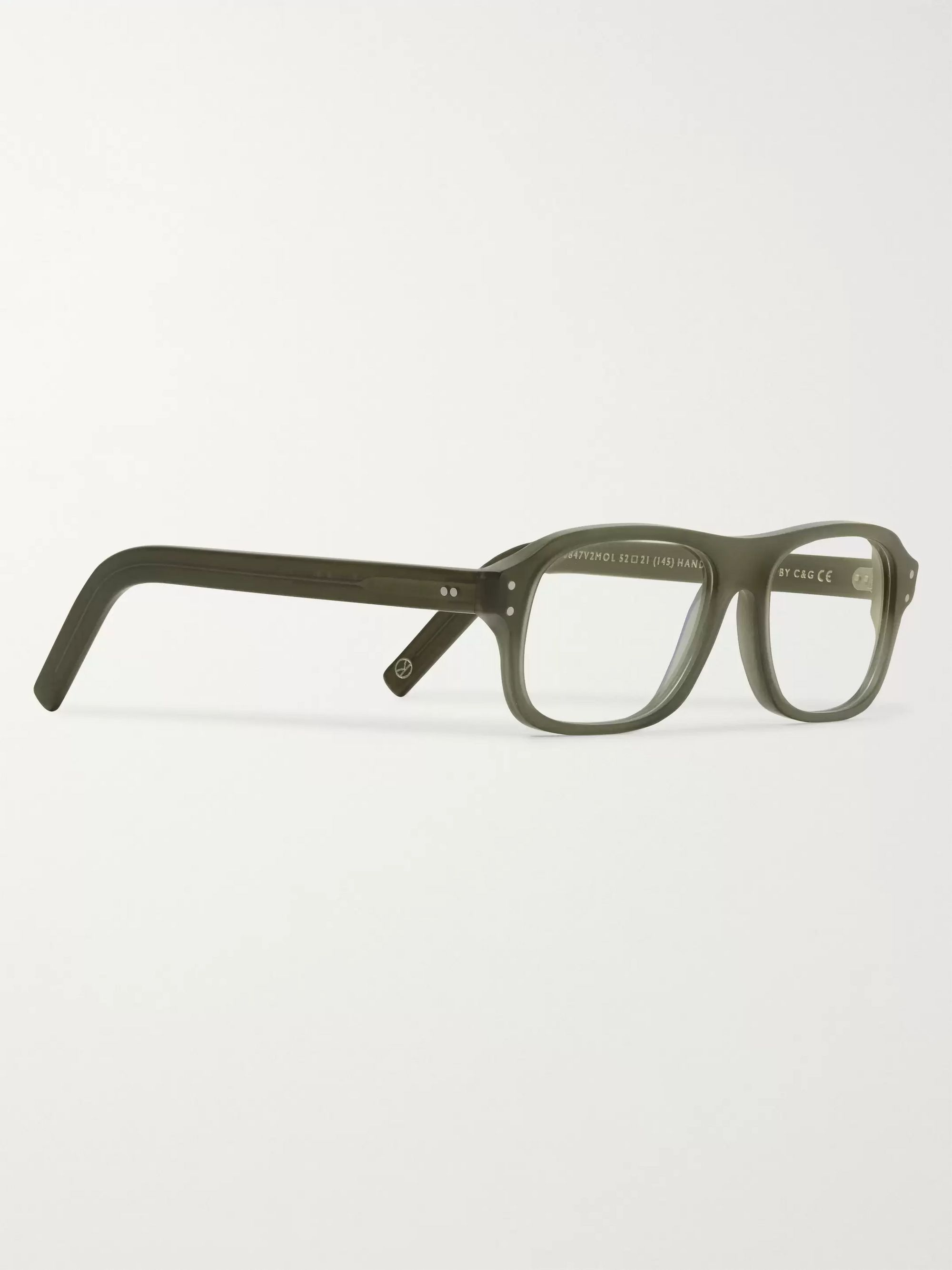 Kingsman + Cutler and Gross Eggsy's Rectangular-Frame Acetate Optical Glasses