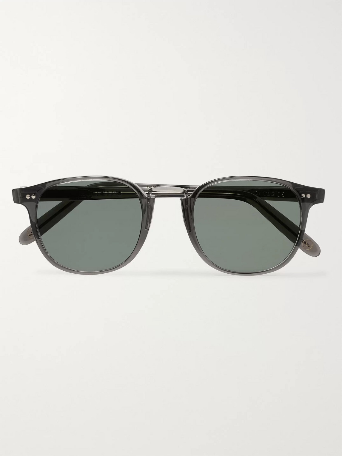 Kingsman Culter And Gross Round-frame Acetate Sunglasses In Gray