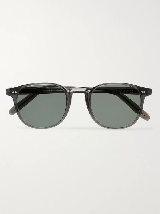 Kingsman + Culter and Gross Round-Frame Acetate Sunglasses