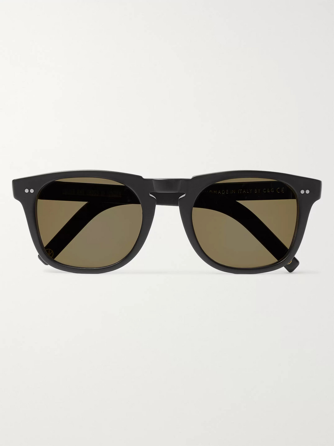 Kingsman Cutler And Gross Square-frame Matte-acetate Sunglasses In Black