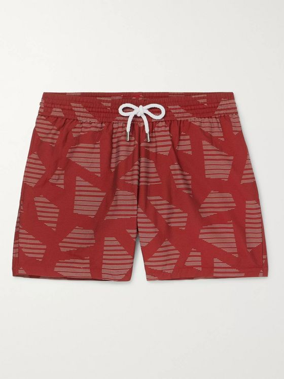 FRESCOBOL CARIOCA Modernist Slim-Fit Short-Length Printed Swim Shorts