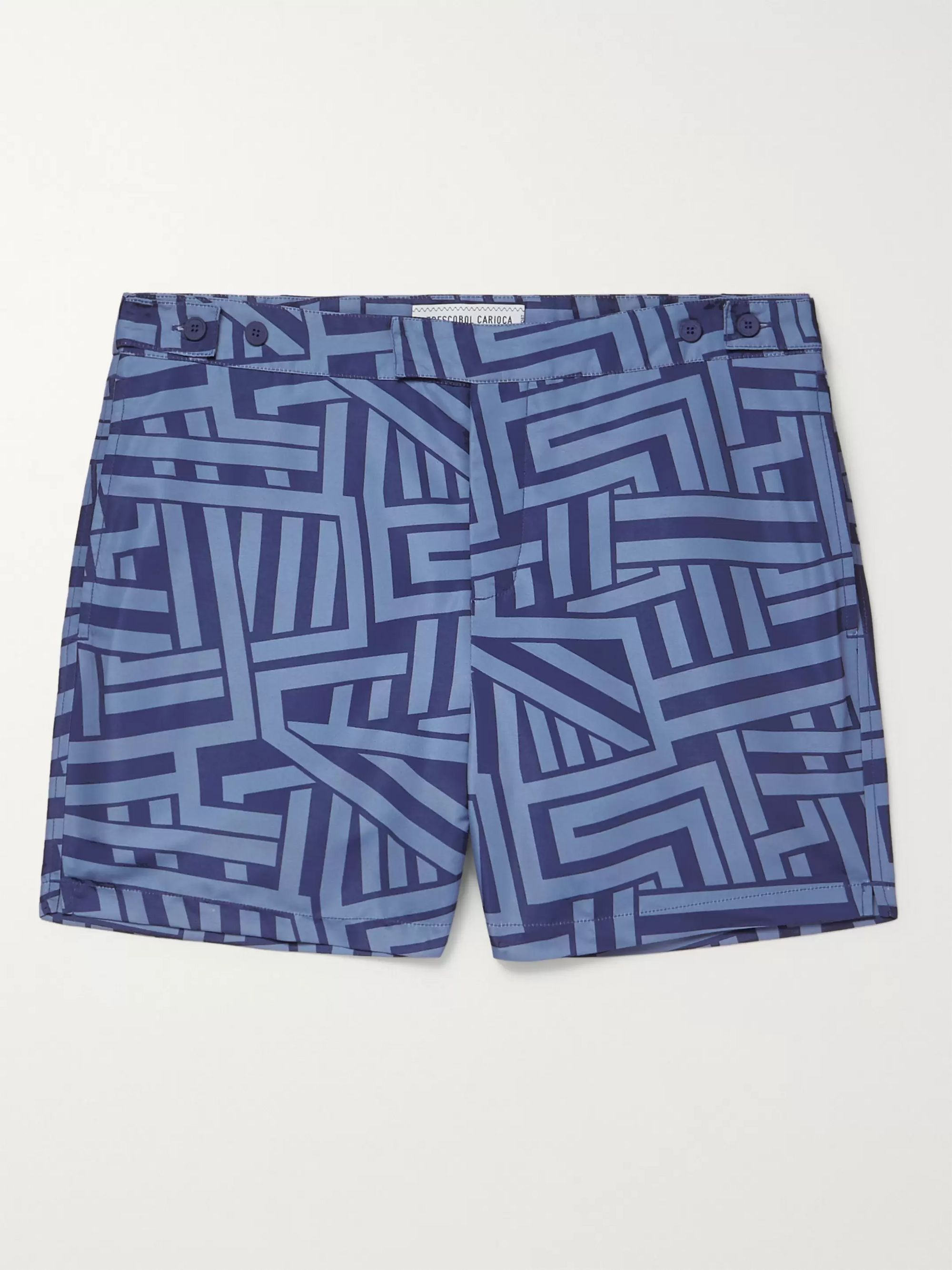 Frescobol Carioca Modernist Bretton Short-Length Printed Swim Shorts