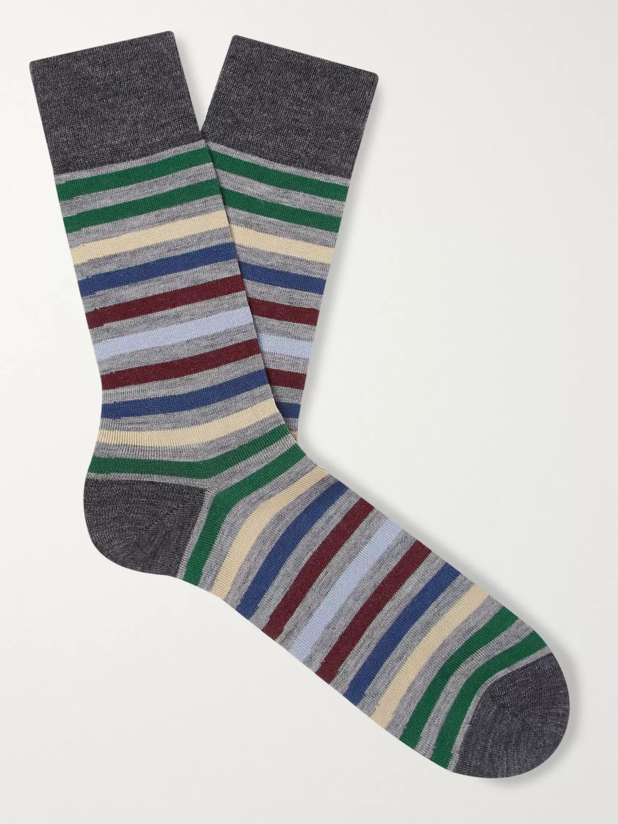 FALKE Striped Stretch-Knit Socks