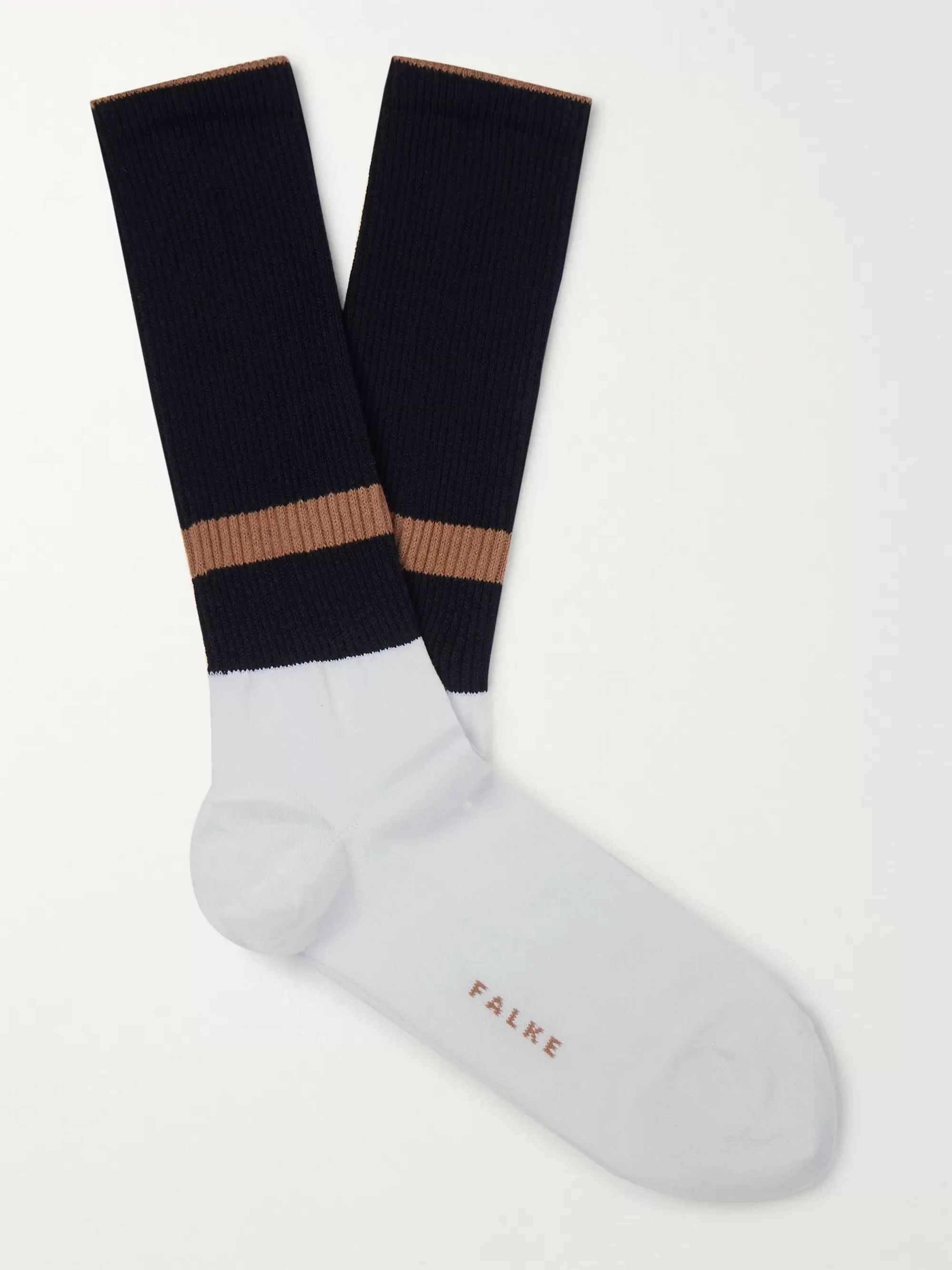 FALKE Colour-Block Stretch-Knit Socks