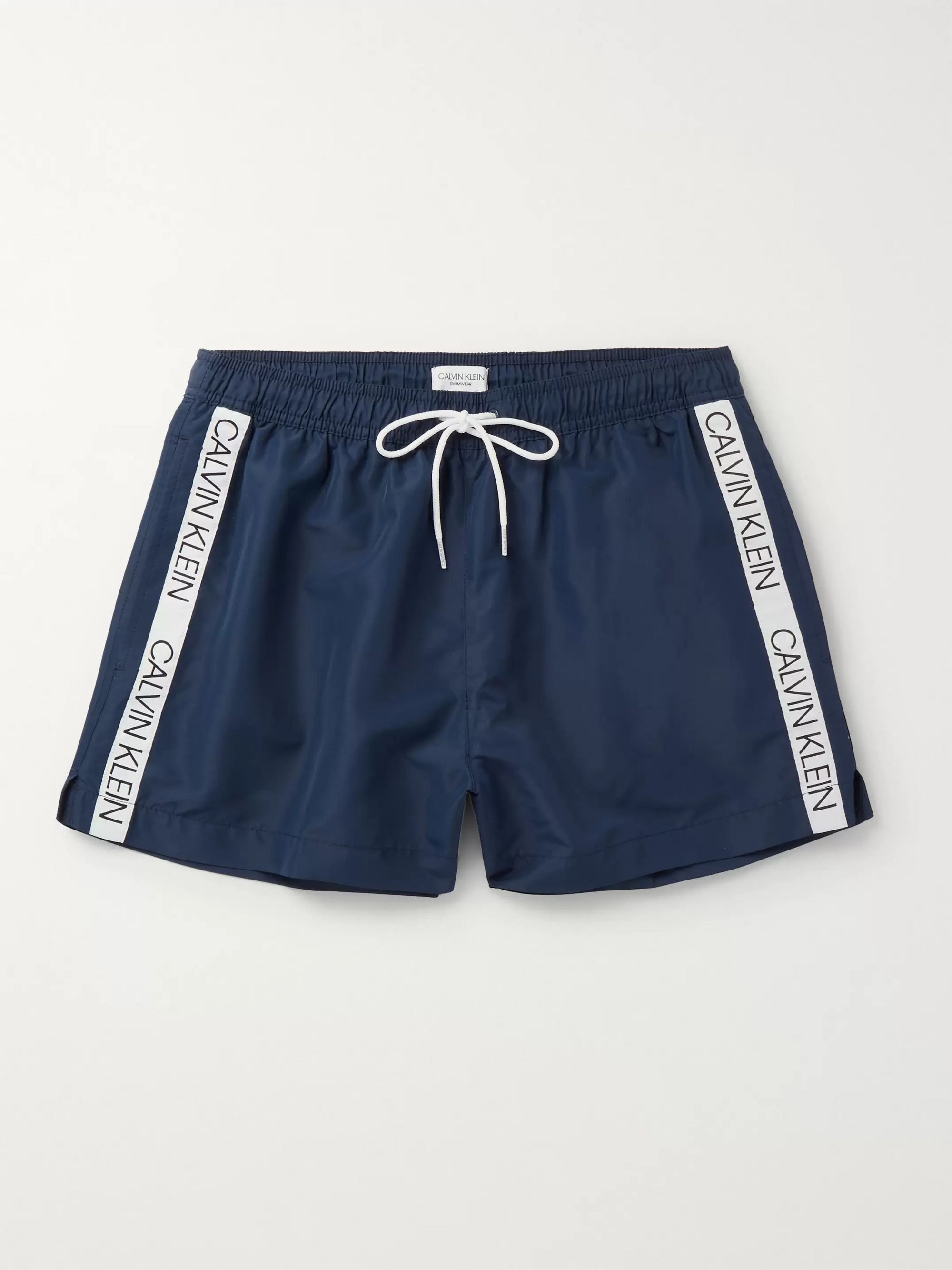 Calvin Klein Underwear Short-Length Logo Jacquard-Trimmed Swim Shorts