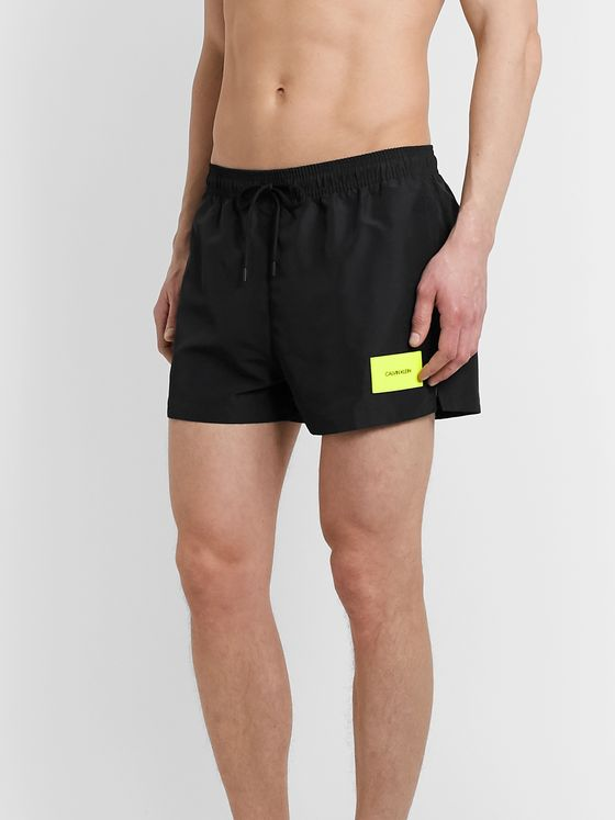 Calvin Klein Underwear Short-Length Logo-Appliquéd Swim Shorts