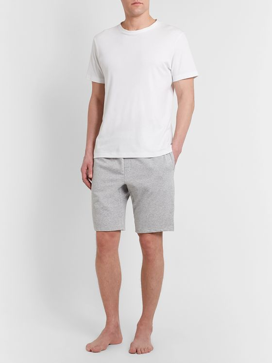 Calvin Klein Underwear Mélange Stretch Cotton-Blend Pyjama Shorts