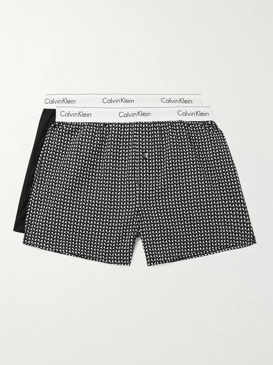 Calvin Klein Underwear Two-Pack Cotton Boxer Shorts