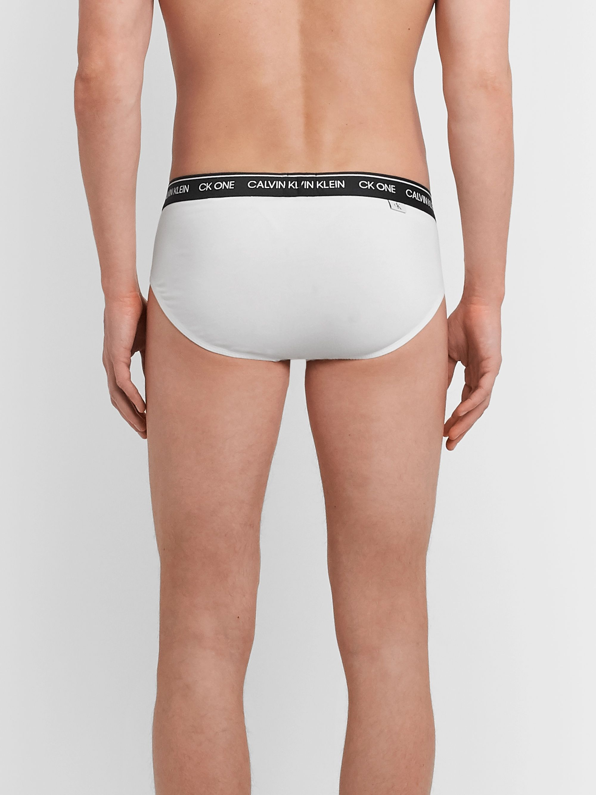 White Two-pack Stretch-cotton Briefs | Calvin Klein Underwear