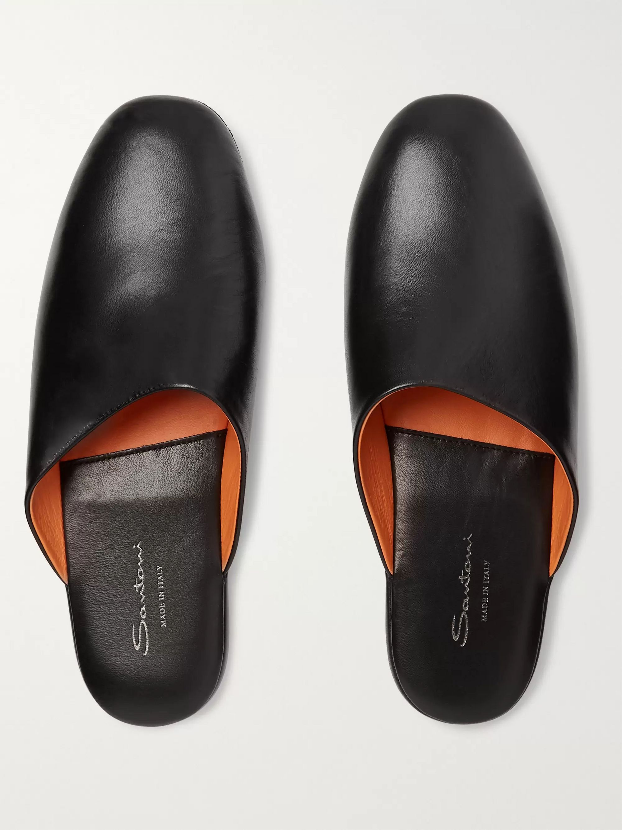 Santoni Leather Slippers
