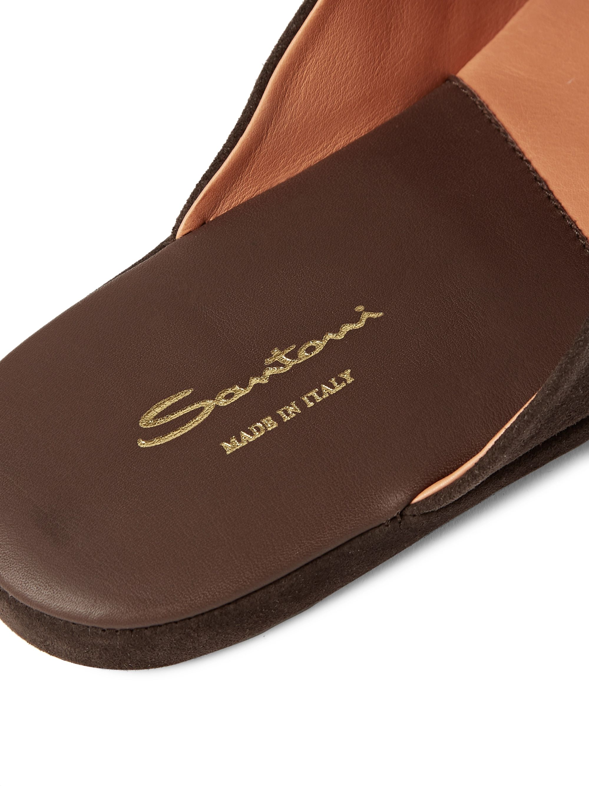 Santoni Suede Backless Slippers
