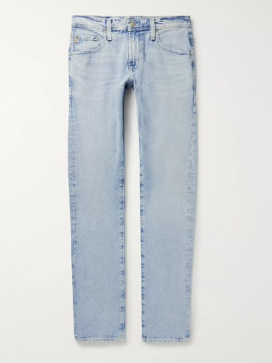 AG Jeans Tellis Slim-Fit Faded Stretch-Denim Jeans