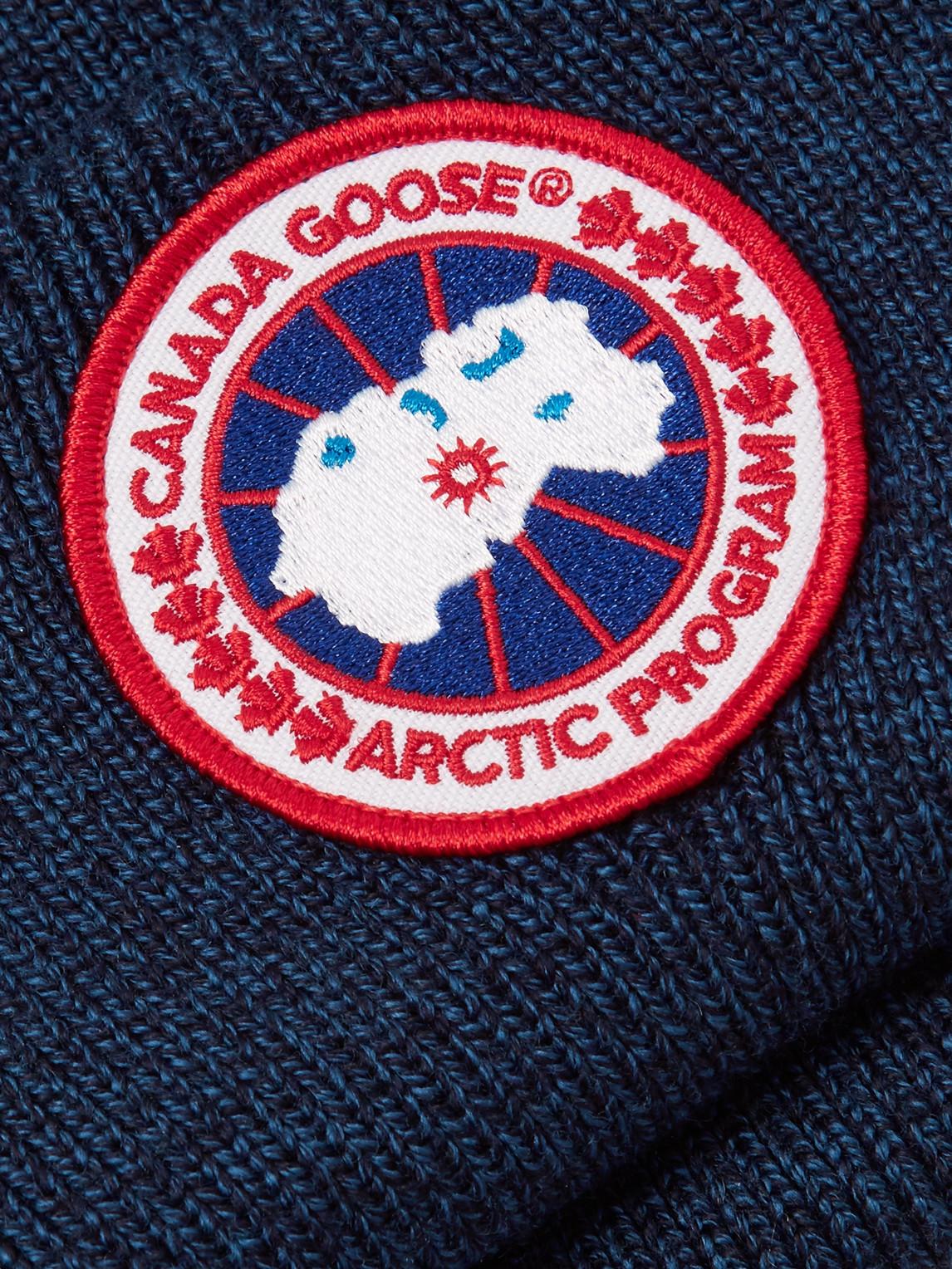 Canada Goose Accessories LOGO-APPLIQUÉD MERINO WOOL BEANIE