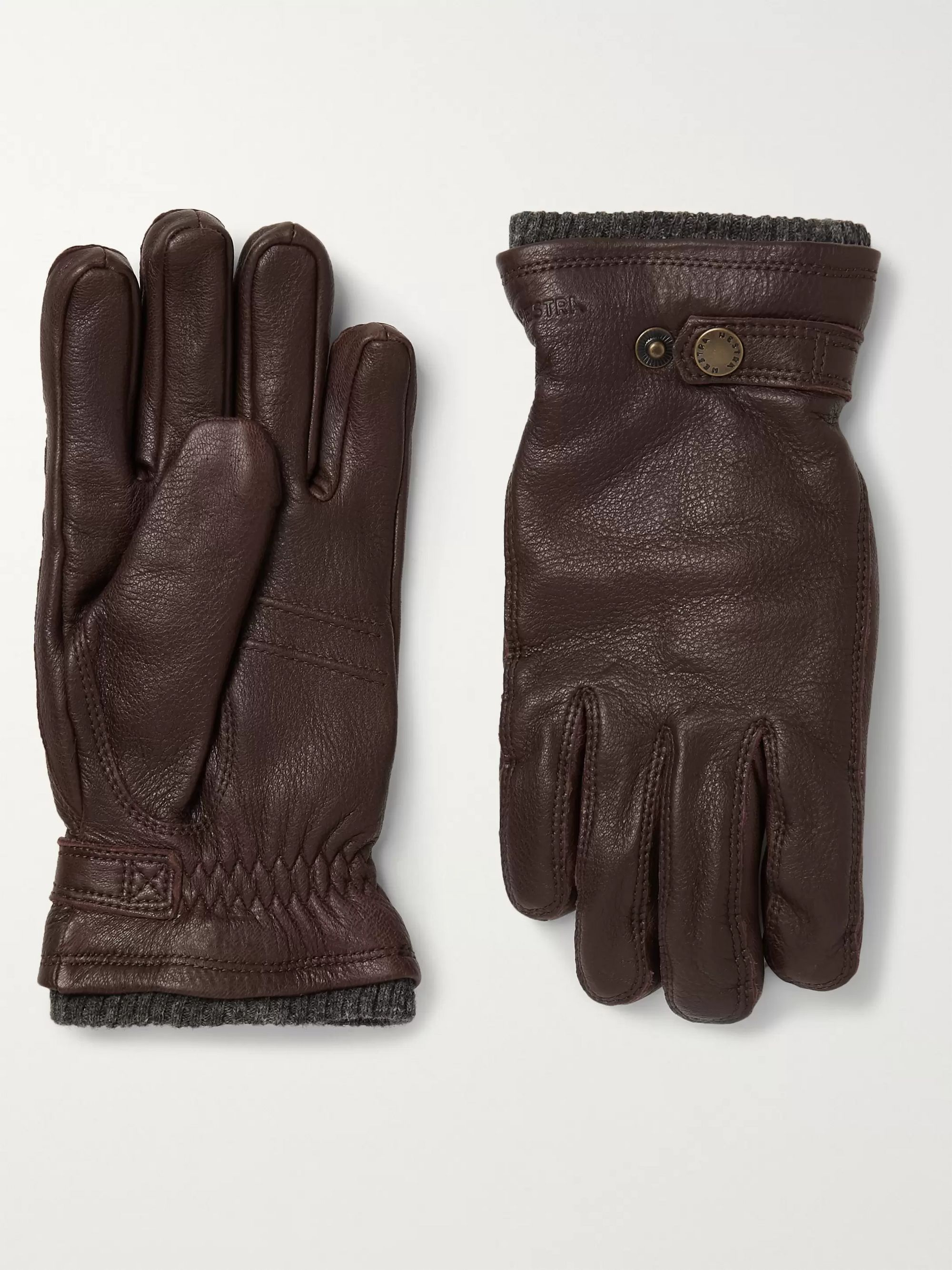 Hestra Utsjö Fleece-Lined Full-Grain Leather Gloves
