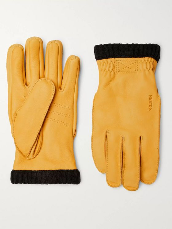 HESTRA Primaloft Fleece-Lined Full-Grain Leather Gloves
