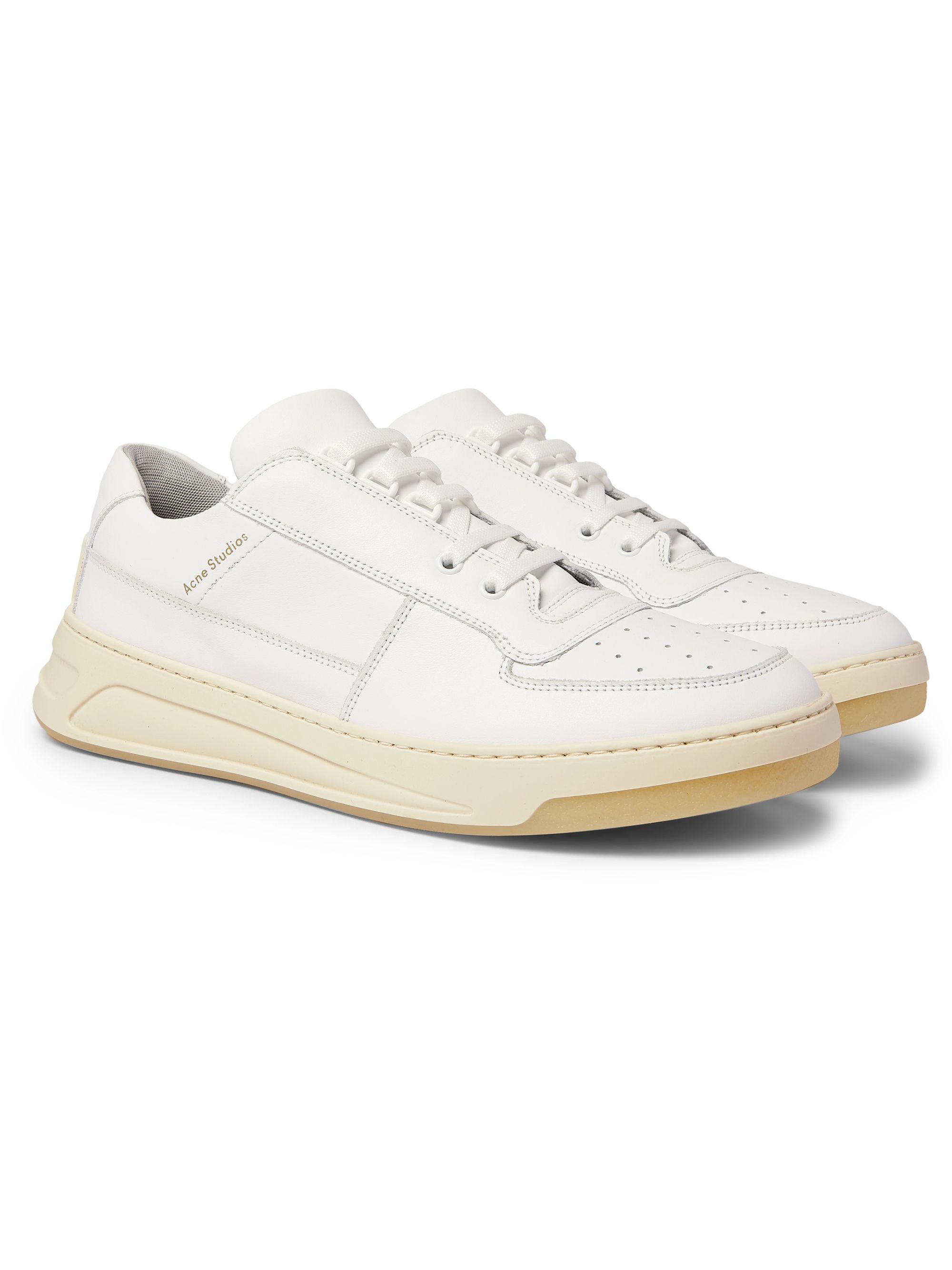 아크네 스튜디오 Acne Studios Leather Sneakers,White