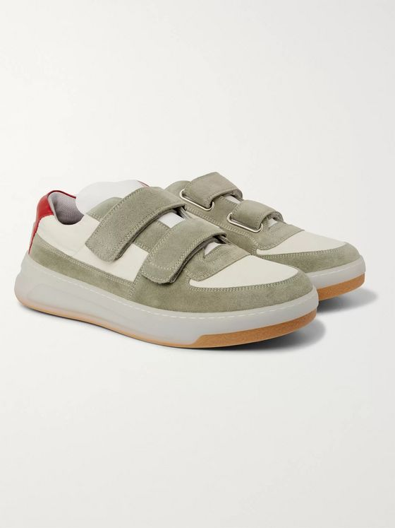 Acne Studios Leather-Trimmed Suede and Shell Sneakers