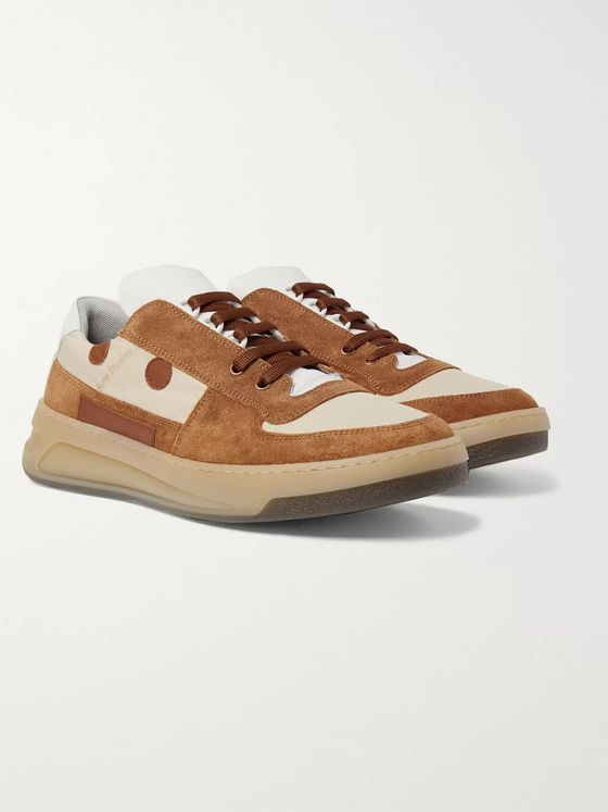 Acne Studios Perey Leather-Trimmed Suede and Shell Sneakers